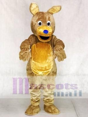 Blaue Nase Brown Kangaroo Maskottchen Kostüme Tier