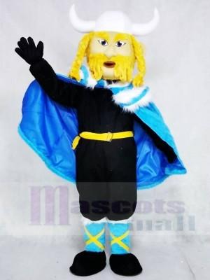 Thor der große Wikinger mit blauem Umhang Maskottchen Kostüme Menschen