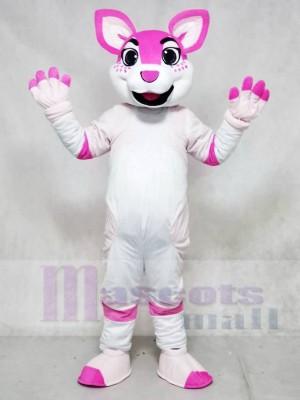 Rosa Heiser Hund Fursuit Maskottchen Kostüme Tier