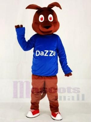 Känguru im blauen Hemd Maskottchen Kostüm Tier