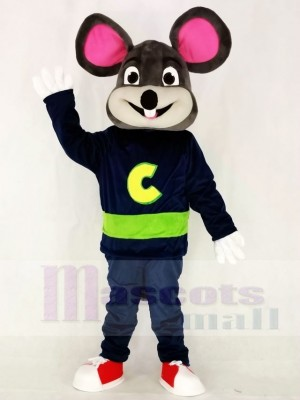 Dunkelgrau Chuck E. Cheese Fast Food Werbung Maskottchen Kostüme Tier