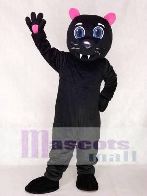Rote Ohren und Pfoten Black Sir Purr der Carolina Panthers Maskottchen Kostüme