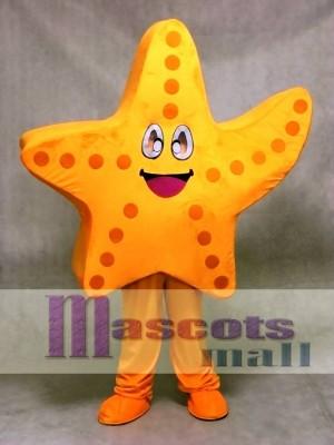 Niedlich Orange Seestern Maskottchen Kostüm Ozean