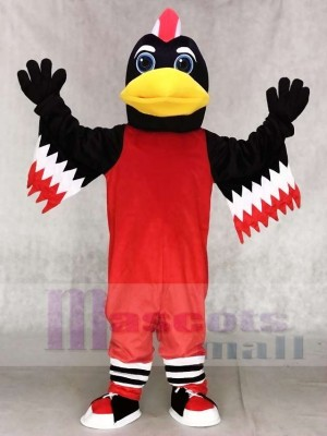 rot Chicago Blackhawks Tommy Hawk Maskottchen Kostüme