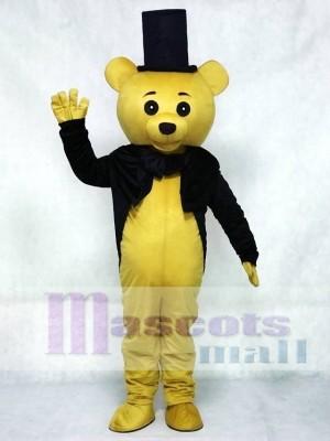 Ritual Bär Maskottchen Kostüm Braun Teddybär Gentleman Anzug