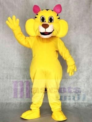 Netter großer gelber Yeller Katze Maskottchen Kostüme Tier