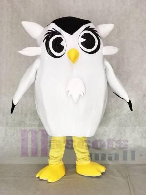 Nettes weißes Eulen Maskottchen kostüm Vogel Tier