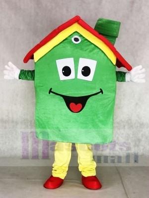 Grundeigentum Agentur Grüne Wohnungs Haus Hypotheken Maskottchen Kostüme