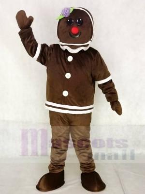 Niedlich Lebkuchen Mädchen Maskottchen Kostüme Weihnachten