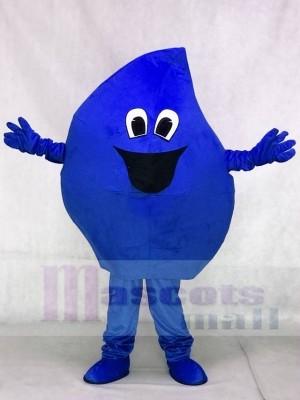 Blaues Regentropfen Meerwasser Tropfen Maskottchen Kostüm