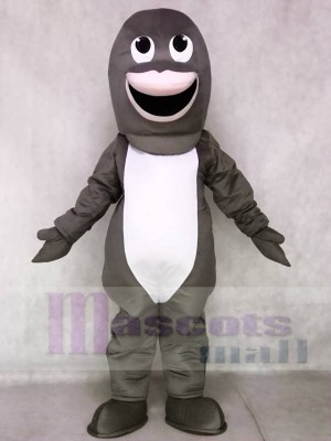 Nettes graues Haifisch-Maskottchen kostüm Tier
