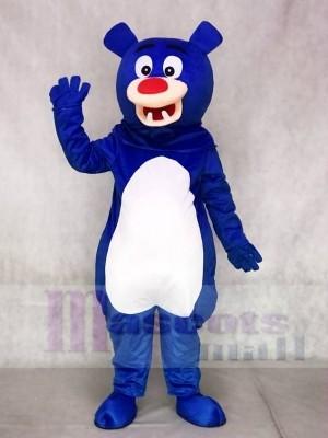Blauer Bär mit weißem Bauch Maskottchen Kostüme Tier