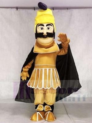 Trojan Warrior Maskottchen Kostüme mit schwarzem Umhang
