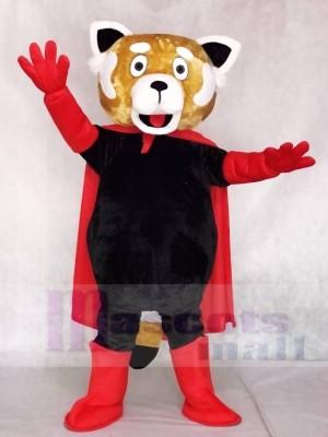 rot Lesser Panda Katze-Bär mit Umhang Maskottchen Kostüme Tier
