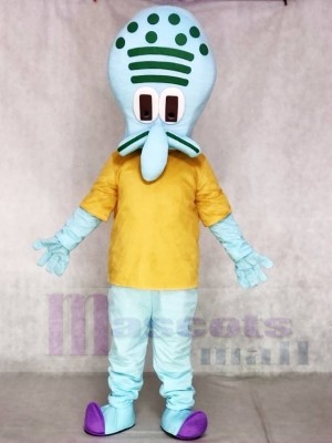 Squidward Mascot Costumes from Krusty Krab SpongeBob SquarePants Movie