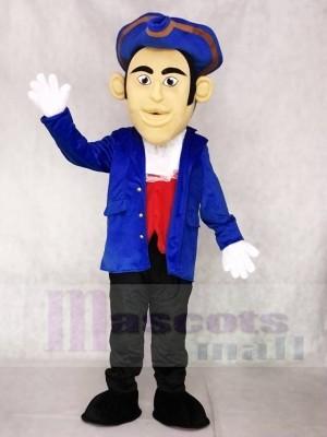 Blauer Hut Patriot Maskottchen kostümiert Leute