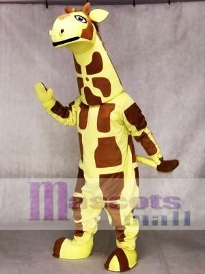Gelbes Giraffen Maskottchen Kostüm Tier