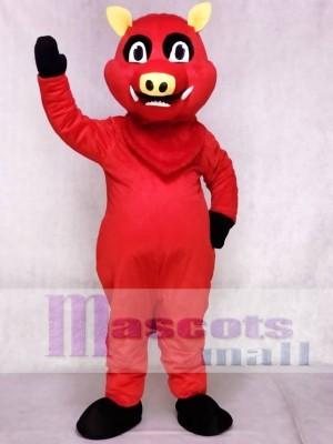 rot Razorback Wildschwein Schwein Wildschwein Maskottchen Kostüm Tier