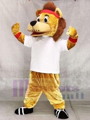 Lenny Der Löwe in weißen Weste Maskottchenkostümen Tier
