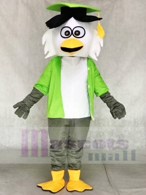 Grünes Hemd Doktor Eule Maskottchen Kostüme Tier
