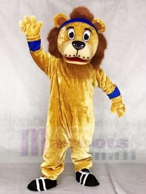Lenny der Löwe mit blauen Stirnband Maskottchen Kostümen Tier