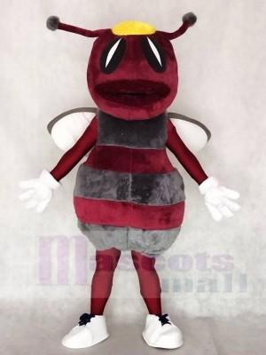 Kastanienbraun mit Grau Hornissen Bienen Maskottchen Kostüme Tier