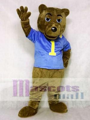 UCLA Dunkelbraun Bär Maskottchen Kostüm mit Weste