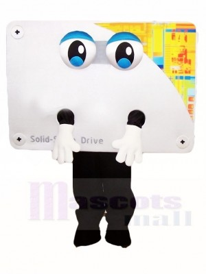 Weiße Computer Displayer Maskottchen Kostüme