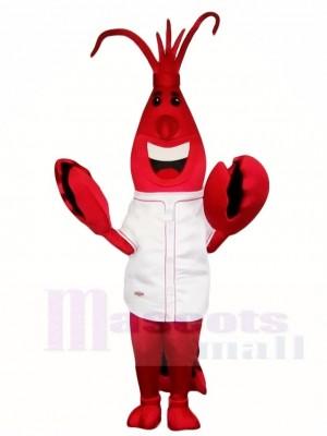 Rote Hummer Maskottchen Kostüme im weißen Hemd Meer Tier