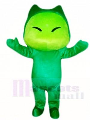 Monster Familie Schöner Papa Kleine grüne schreckliche Maskottchen Kostüm Karikatur