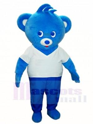 Blau Bär Maskottchen Kostüme Tier