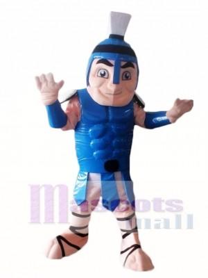 Blau Titan spartanisch Trojaner Ritter Maskottchen Kostüm