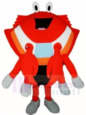 Orange Krabbe Maskottchen Kostüme Meeresfrüchte