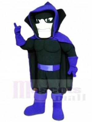 Schwarz Phantom Geist Gespenst mit Lila Kap Maskottchen Kostüme