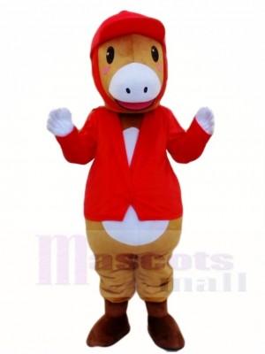 Reiten rot Pferd Parade Pferdesport Maskottchen Kostüme Tier