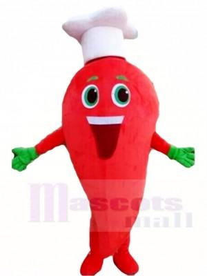 Rote Chili Pepper Cook Maskottchen Kostüme Gemüse Pflanze