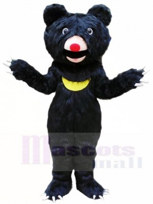 Behaart Schwarz Bär Maskottchen Kostüme Tier