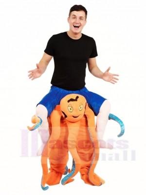 Piggy Back Tintenfisch Carry Me Ride weiter Maskottchen Kostüme Halloween Weihnachten