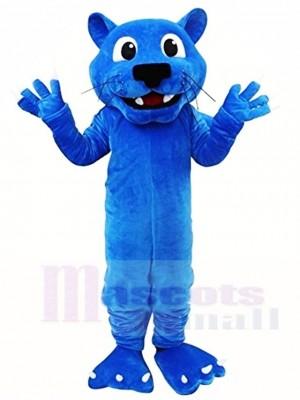 Blaues Leopard Maskottchen Kostüm Tier