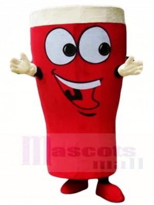 Glas rot Bier Flaschen Maskottchen Kostüme trinken