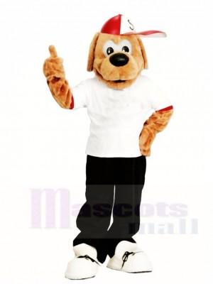 Braun Hund mit Ein Hut Maskottchen Kostüme Tier