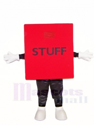 rot Stoff Würfel Maskottchen Kostüme