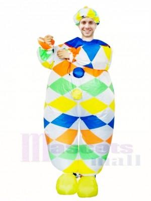 Clown Joker Aufblasbar Halloween Sprengen Sie Kostüme für Erwachsene