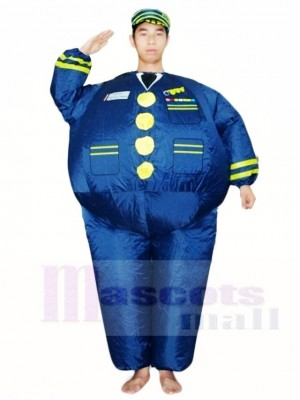 Blau Marine Kapitän Pilot aufblasbar Halloween Weihnachten Kostüme für Erwachsene