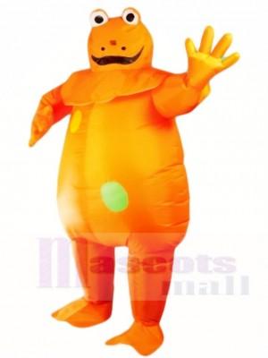 Orange Frosch aufblasbare Halloween Weihnachts kostüme für Erwachsene