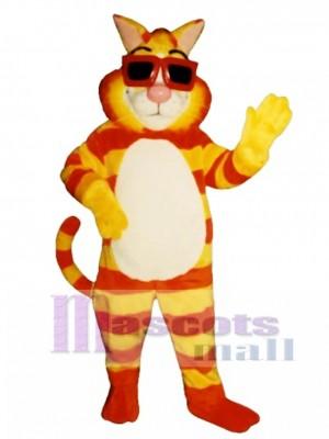 Nette Kool Katze Maskottchen Kostüm