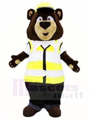 Verkehr Polizei Brown Bär Maskottchen Kostüme Tier