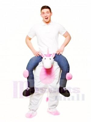 Piggy Back Einhorn Carry Me Ride weiter Maskottchen Kostüme Halloween Weihnachten