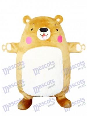 Adorable Big Bear Maskottchen Kostüm Tan Bär Tier