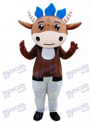 Brown Vieh Kalb Maskottchen Kostüm Karikatur